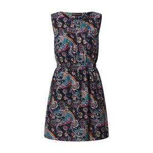 Mela London Letní šaty  černá / modrá / tyrkysová