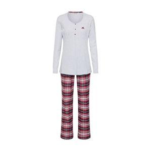 ESPRIT Pyžamo 'KELA'  šedá / červená