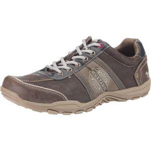 MUSTANG Sportovní šněrovací boty  bílá / hnědá / světle hnědá