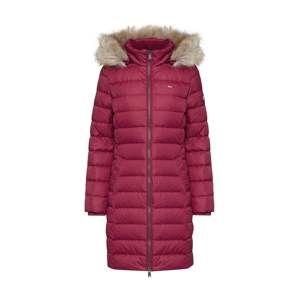 Tommy Jeans Zimní kabát  malinová