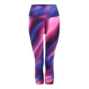 HKMX Sportovní kalhoty 'HW Capri L2 print DD'  modrá / fialová