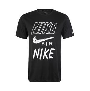 NIKE Funkční tričko 'Breathe'  černá / bílá