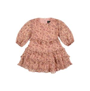 Bardot Junior Šaty 'Esther'  starorůžová / hnědá / pitaya / bílá / oranžová