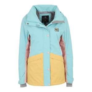 BILLABONG Outdoorová bunda 'Kayla'  světlemodrá / šafrán / růžová