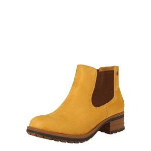 RIEKER Chelsea boty '96884'  hnědá / hořčicová