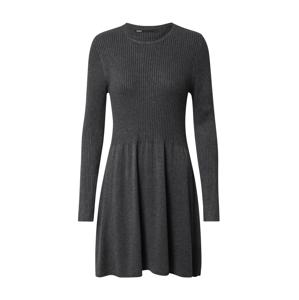 ONLY Úpletové šaty 'Alma'  tmavě šedá