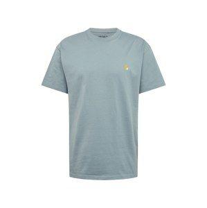 Carhartt WIP Tričko 'Chase'  kouřově modrá / zlatá
