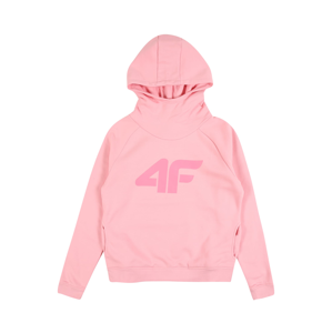 4F Sportovní mikina  pink / světle růžová