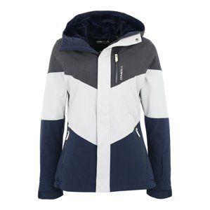 O'NEILL Outdoorová bunda 'Coral'  noční modrá / šedá / bílá
