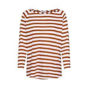 Rich & Royal Tričko 'Heavy Jersey Longsleeve striped'  rezavě hnědá