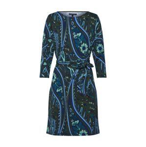 King Louie Šaty 'Zoe Dress Teardrop'  modrá / světle zelená / tmavě zelená