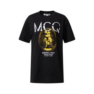 McQ Alexander McQueen Tričko 'BOYFRIEND T-SHIRT'  černá