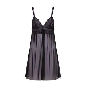 ESPRIT Noční košilka 'HILMAH'  šedá / černá