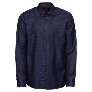 HUGO Společenská košile 'Erondo 10209353 01'  tmavě modrá / černá