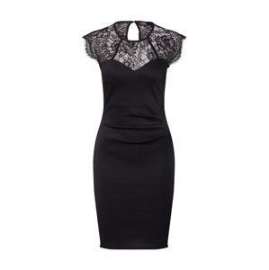 Dorothy Perkins Koktejlové šaty 'LACE YOKE PENCIL'  černá