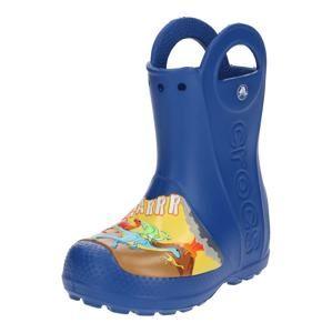 Crocs Gumové holínky 'Dino Rain Boot K'  modrá / mix barev