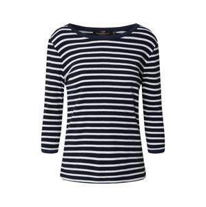 Zwillingsherz Tričko 'Jessie'  marine modrá / bílá