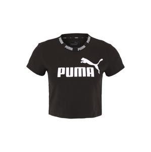 PUMA Funkční tričko 'Amplified'  černá / bílá