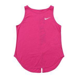 NIKE Sportovní top  pink / fuchsiová / bílá
