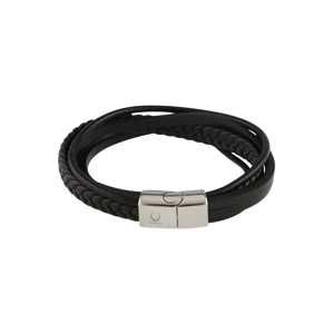 ROYAL-EGO Náramek 'Multi Leather Bracelet'  schwarz