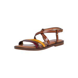 TAMARIS Páskové sandály  koňaková / pink / žlutá