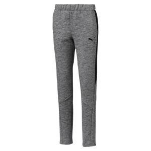 PUMA Sportovní kalhoty 'Evostripe'  šedá / černá