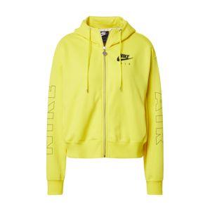Nike Sportswear Mikina s kapucí 'AIR'  žlutá