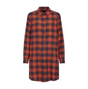 Sublevel Košilové šaty 'D70000W30173'  šedá / oranžově červená