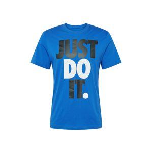Nike Sportswear Tričko  bílá / modrá / černá