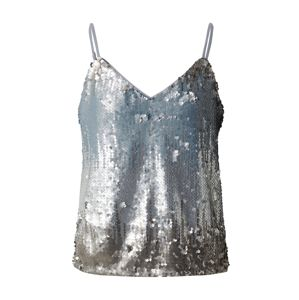 ONLY Top 'ONLJOY S/L SEQUINS TOP JRS'  stříbrná