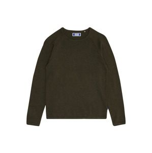 Jack & Jones Junior Svetr 'JJEUNION KNIT CREW NECK JUNIOR'  olivová