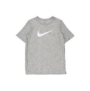 NIKE Funkční tričko  šedá / bílá