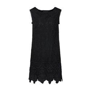 Mela London Koktejlové šaty 'SLEEVELESS LACE BORDER DRESS'  černá