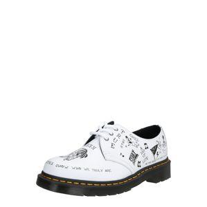 Dr. Martens Šněrovací boty '1461 Scribble'  černá / bílá