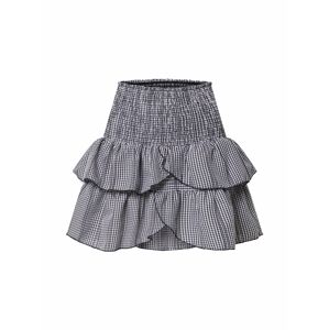 Neo Noir Sukně 'Carin Mini Check Skirt (part of group)'  černá