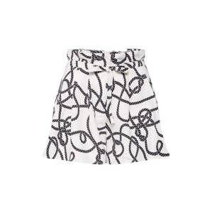 4th & Reckless Kalhoty 'BILLY'  černá / bílá