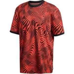 ADIDAS PERFORMANCE Funkční tričko  světle červená / černá
