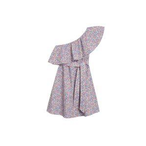 MANGO Letní šaty 'Lilack'  fialová / bílá / modrá