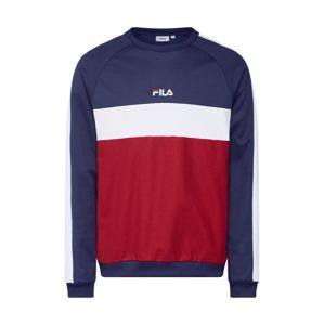 FILA Mikina 'PAAVO Crew Shirt'  tmavě modrá / vínově červená / bílá