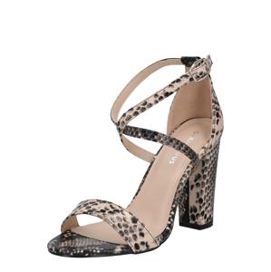 GLAMOROUS Páskové sandály  hnědá / béžová