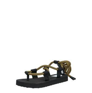 G-Star RAW Páskové sandály  žlutá / černá