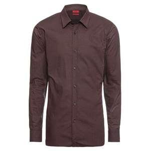HUGO Společenská košile 'Elisha'  burgundská červeň / černá