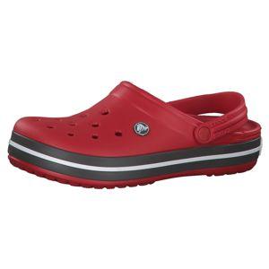 Crocs Pantofle 'Crocband'  červená / šedá / bílá
