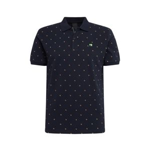 SCOTCH & SODA Tričko 'Classic pique polo with mini all-over pr'  tmavě modrá