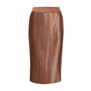 NA-KD Sukně 'shiny pleated skirt'  růžová