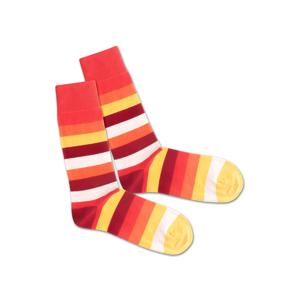 DillySocks Ponožky 'Lava Line'  žlutá / červená / oranžová