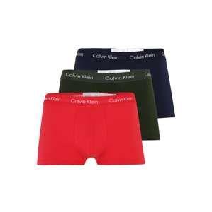 Calvin Klein Underwear Boxerky 'LOW RISE TRUNK'  safírová / smaragdová / červená