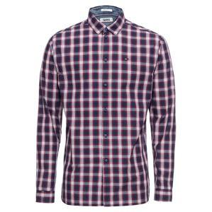 Tommy Jeans Košile 'TJM CHECK SHIRT'  tmavě modrá / červená / bílá