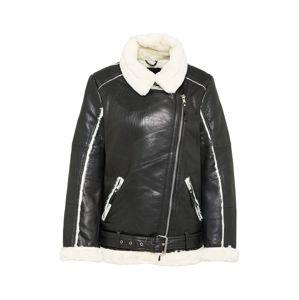 BE EDGY Zimní bunda 'Alexa'  černá / přírodní bílá