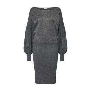 VILA Šaty 'NOMANE KNIT BOATNECK L/S DRESS'  tmavě šedá